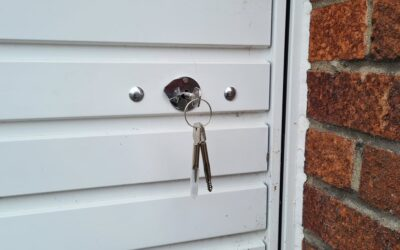 Newport Garage Door with Security Locks